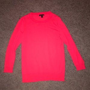 long sleeve JCrew red/pink sweater